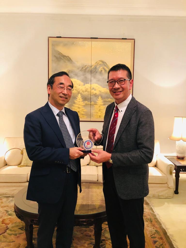 協會代表出席日本國駐香港總領事館晩宴