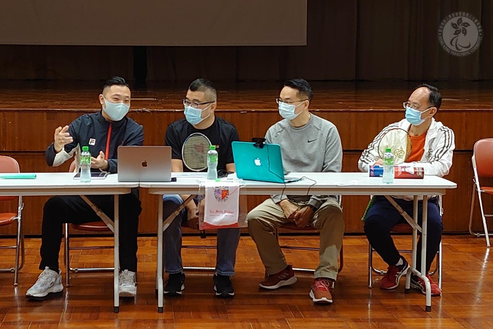 殘疾人羽毛球手陳浩源出席喇沙書院家長教師會分享活動