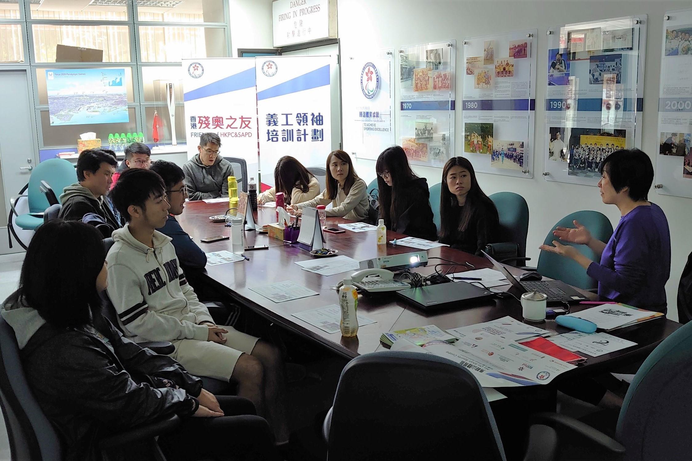 香港殘奧之友義工領袖培訓計劃 — 賽事籌劃工作坊