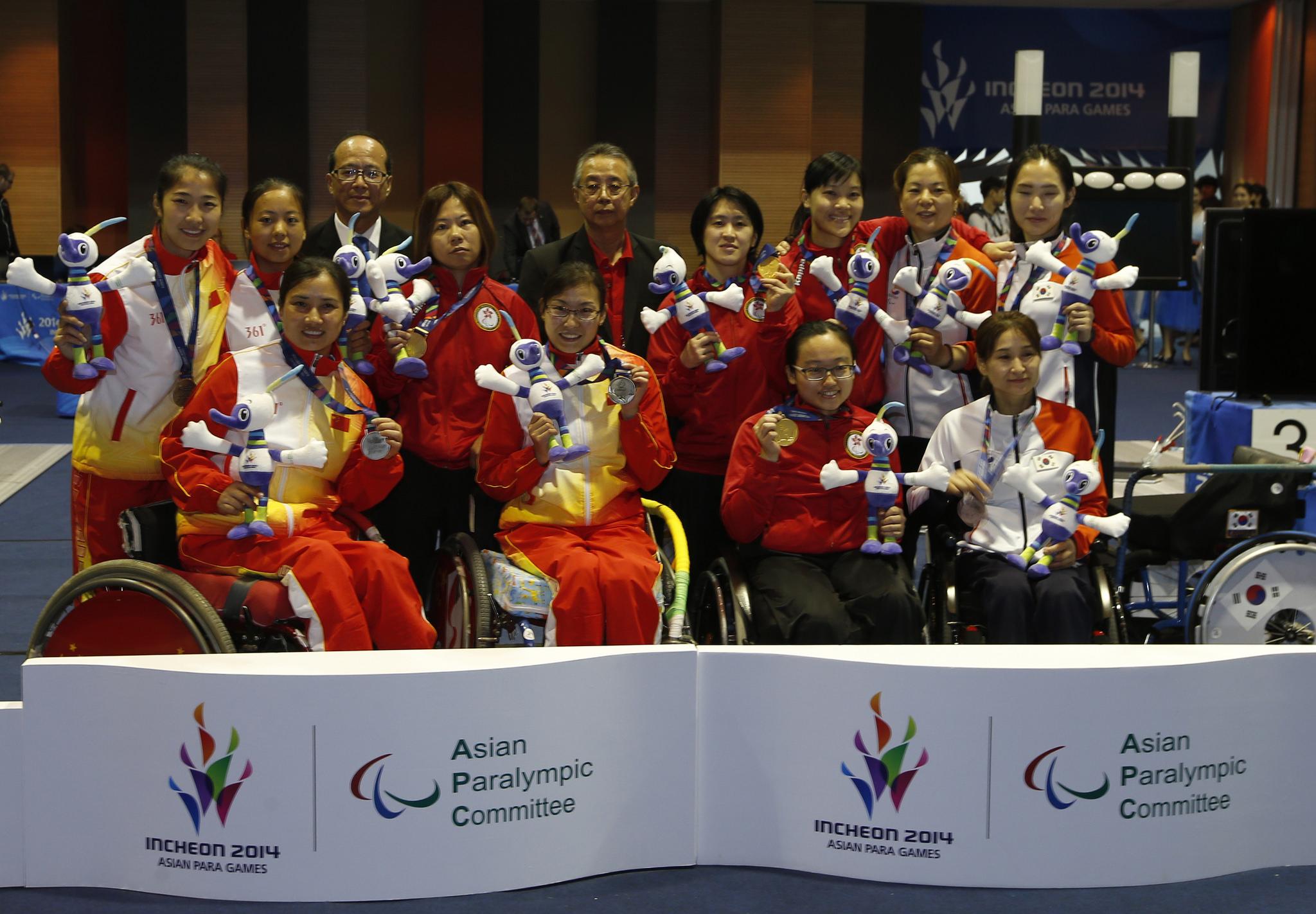 輪椅劍擊女花團體為港奪仁川亞殘運第九金