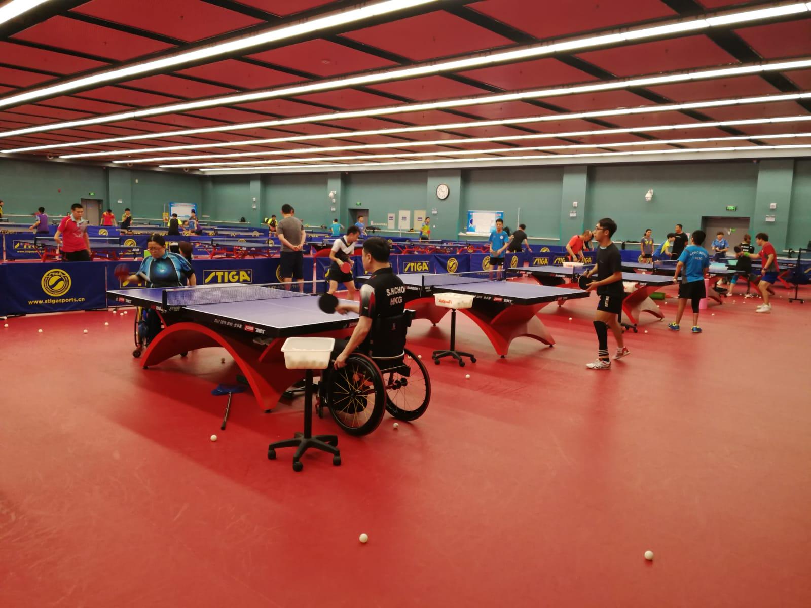 乒乓球隊前赴河北進行海外集訓