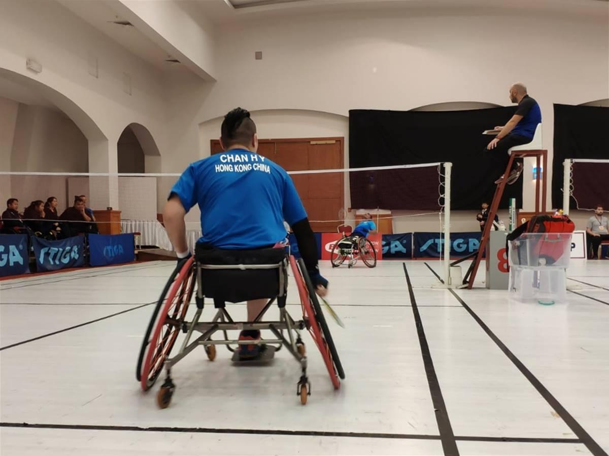 港第五屆土耳其殘疾人羽毛球國際賽單打淘汰賽及雙打小組賽正式展開