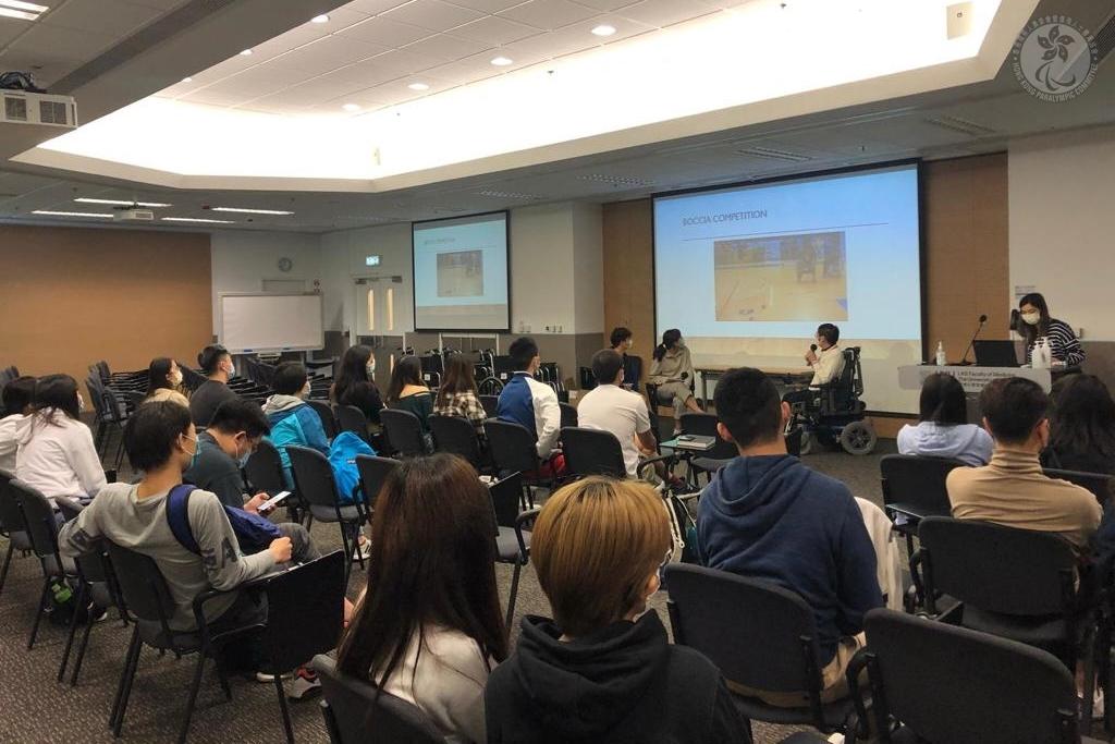 硬地滾球運動員黃君恒出席香港亞洲醫學生學生會分享講座
